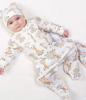 Kite Giraffe and ele sleepsuit